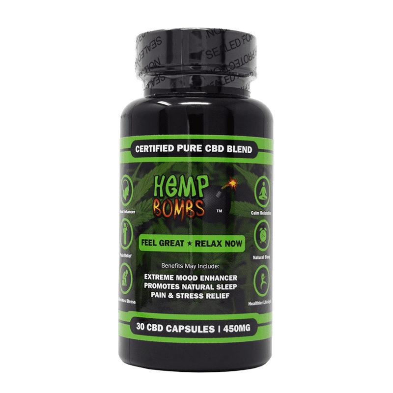 Hemp Bombs 30-Count CBD Capsules CBD Pills