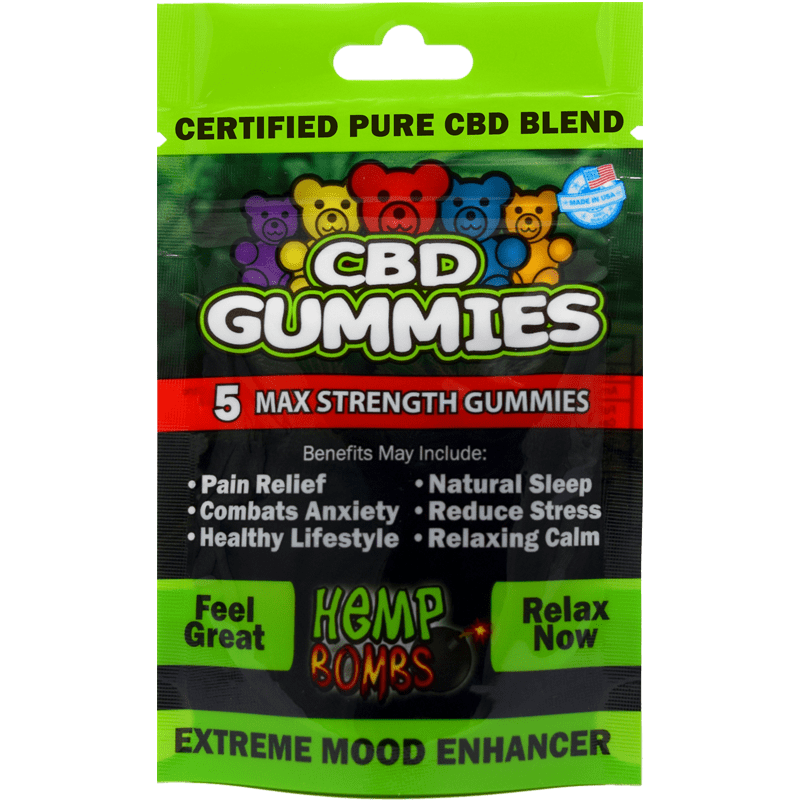Hemp Bombs 5-count CBD Gummies | CBD Edibles