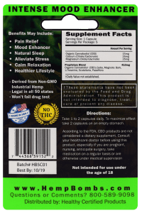 5-count capsules - back of card