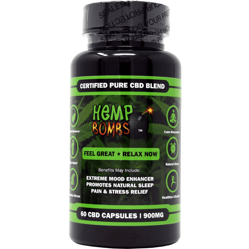 60-count cbd capsules - front of bottle