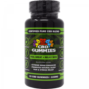 15-count cbd gummies - front of bottle