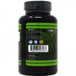 60-count cbd gummies - back of bottle label