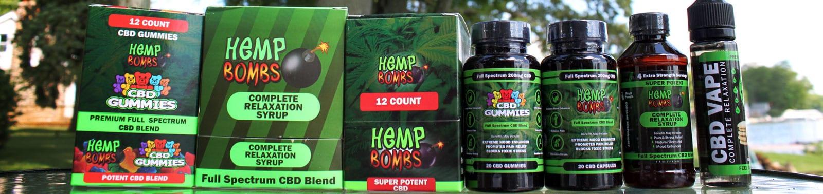 Hemp Bombs - Premium CBD products derived from industrial hemp