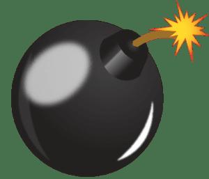 Bomb logo icon