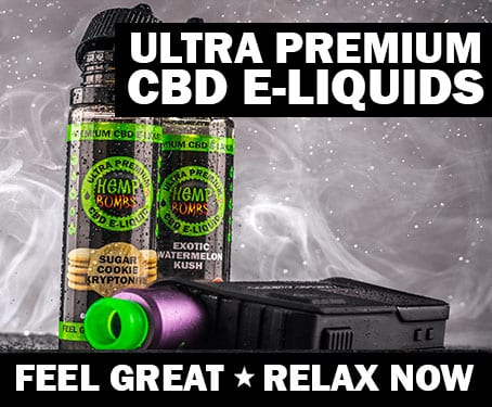 Blow huge smoke with Hemp Bombs Premium CBD E-Liquid