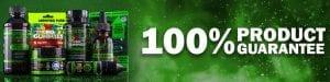 100% product guarantee banner | various cbd products