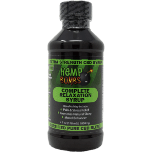 1000mg cbd syrup - front of label