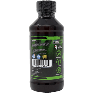 300mg cbd syrup - left side of label