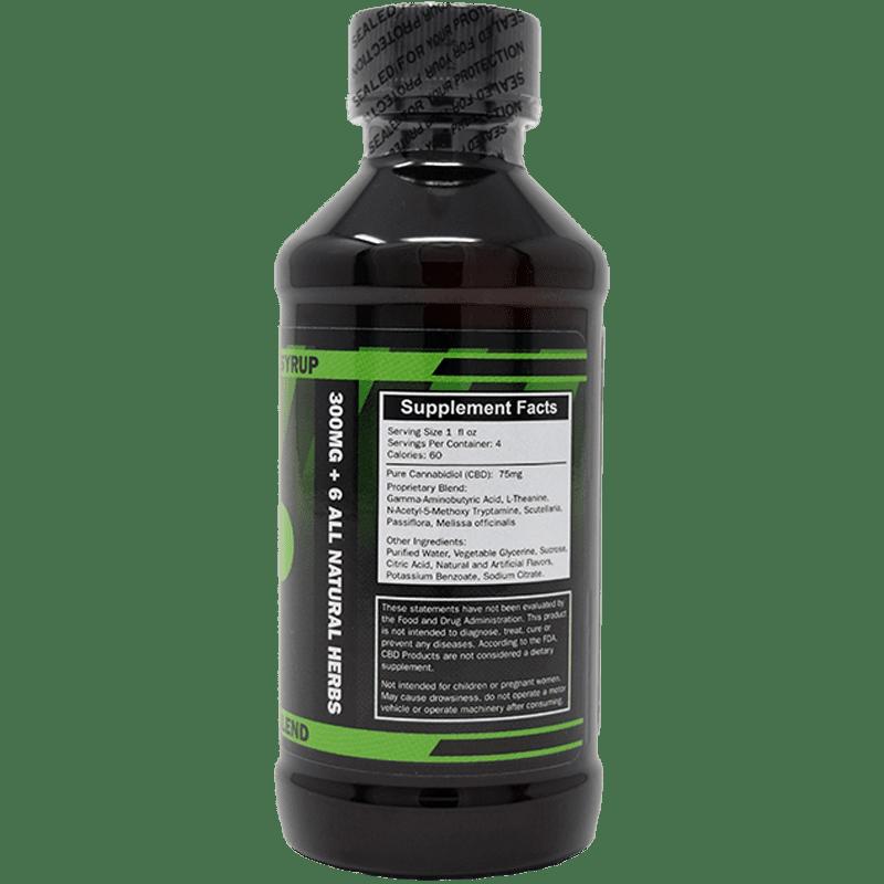 300mg cbd syrup - back of label