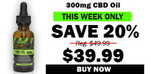 300mg cbd oil - save 20%