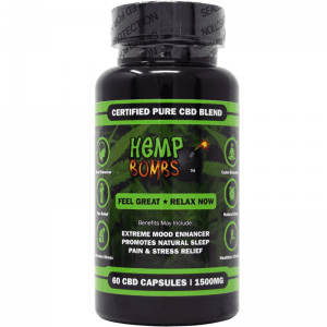 60-count cbd capsules -front of label