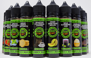 cbd e-liquid various flavors bottles