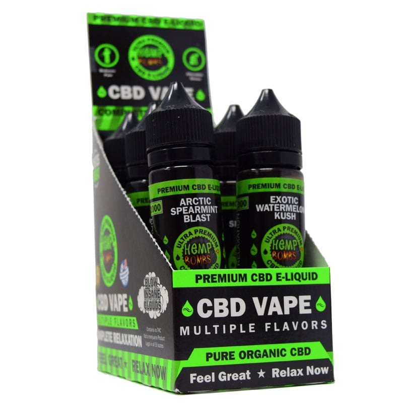 CBD E-Liquid Hemp Bombs