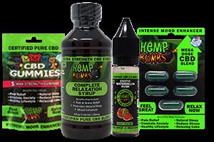 Hemp Bombs sample cbd bundle