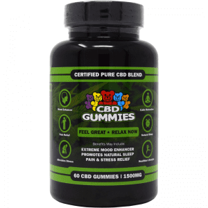 60-count cbd gummies - front of bottle label