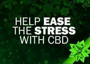 Help ease stress with cbd - present wrapped image