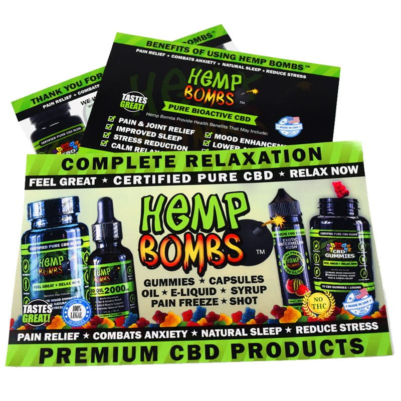 Hemp Bombs Marketing Materials