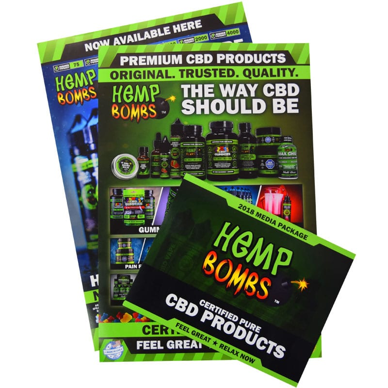 Hemp Bombs Point of Sale Materials