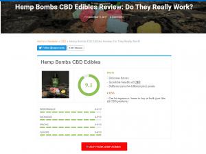 Vapor Vanity review of Hemp Bombs CBD gummies