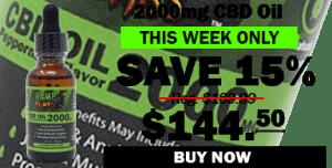 2000mg CBD Oil save 15%