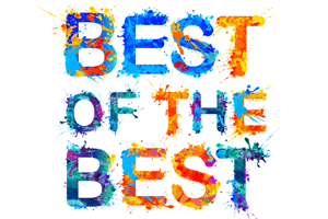 best of the best in colorful text on white background