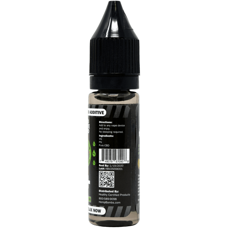 250mg cbd e-liquid additive - back label