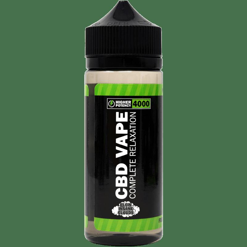 4000mg cbd e-liquid - front of bottle