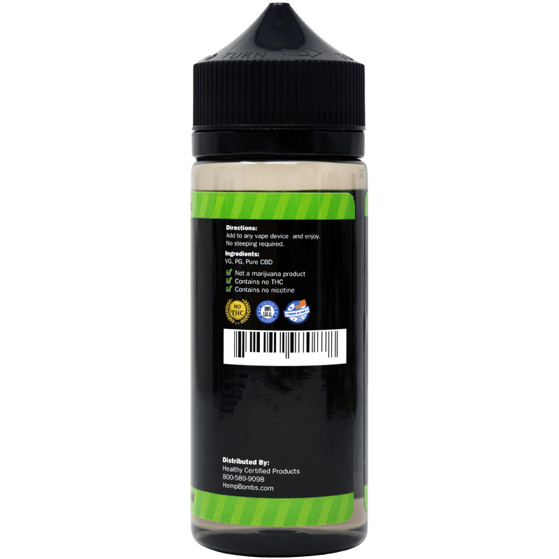 4000mg cbd e-liquid - back of bottle label