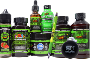 hemp bombs cbd premium bundle including: capsules, gummies, e-liquid, syrup, oil, pain freeze, max chill shot, pen, and stress ball bomb