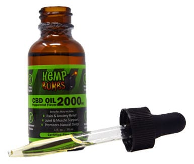 2000mg Pure CBD Oil | Peppermint Flavor