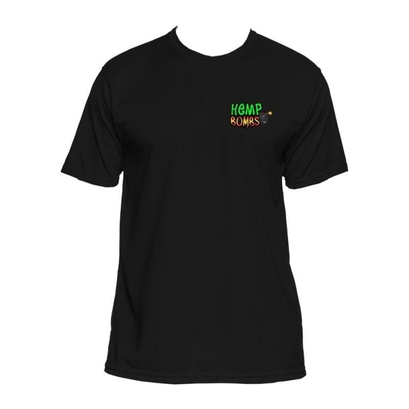 hemp bombs black circle logo shirt
