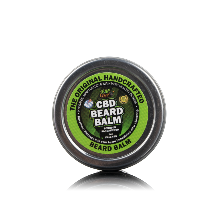 Front View of CBD Beard Balm