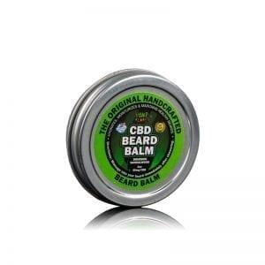 Side view of Hemp Bombs CBD Beard Balm, a men's grooming product