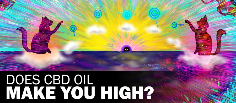 "trippy banner, ""does cbd oil make you high?"""