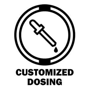 black and white cbd dropper customized dosing icon