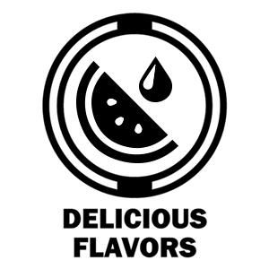 watermelon black and white graphic delicious flavors icon