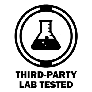 lab beaker third-party lab tested info graphic