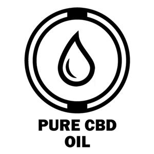 black and white drop of oil pure cbd oil icon
