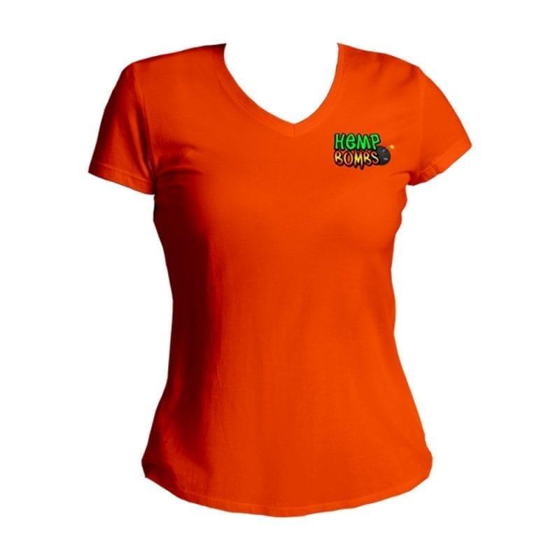 hemp bombs ladies vneck orange