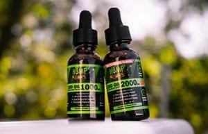CBD oil tincture - outside nature