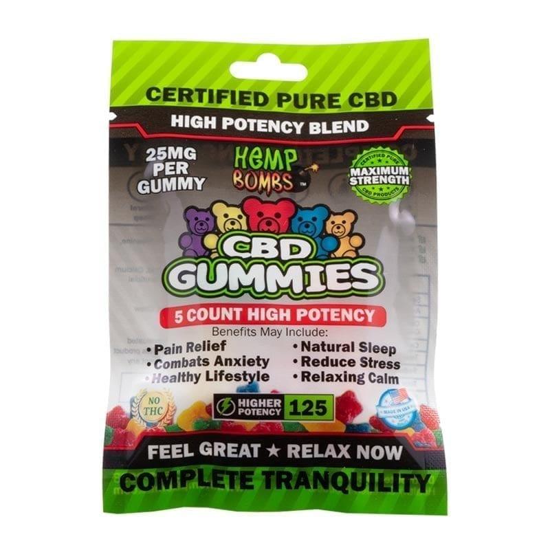 5-Count High Potency CBD Gummies