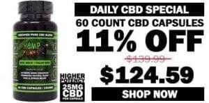 60-count cbd capsules - save 11% graphic