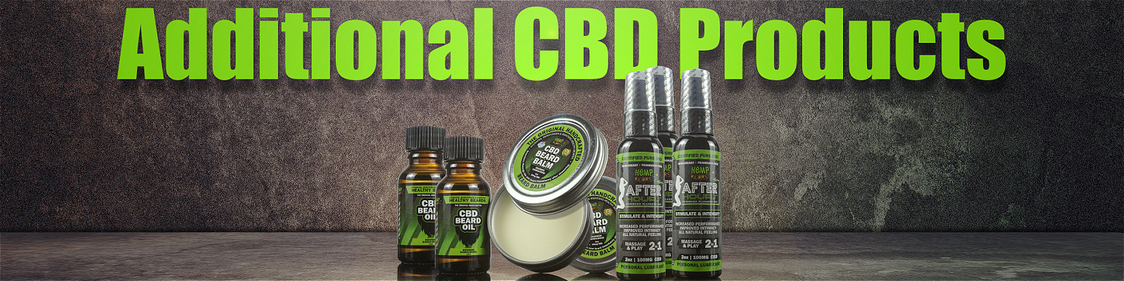 Additional CBD Products | Lube, beard balm, beard oil