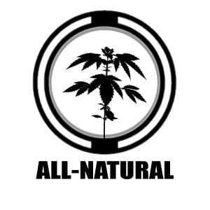 All Natural icon | Hemp plant graphic