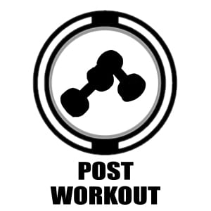 Post workout icon | silhouette of weights