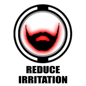 Reduce Irritation icon | red beard graphic
