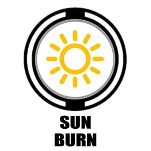 Sun Burn icon   image of sun
