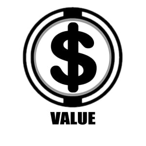 Value icon   money sign icon