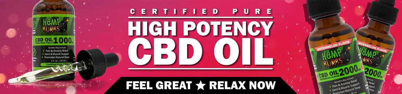 High Potency CBD Oil Hemp Bombs CBD Tincture Oil