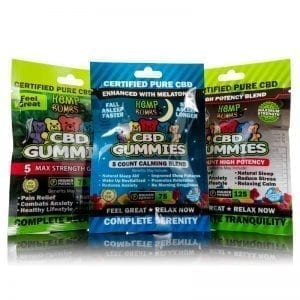 CBD Gummy Sample Pack Hemp Bombs